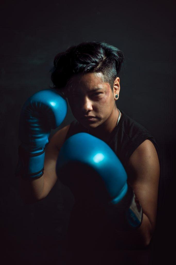 intense boxer