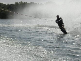 man water skiing