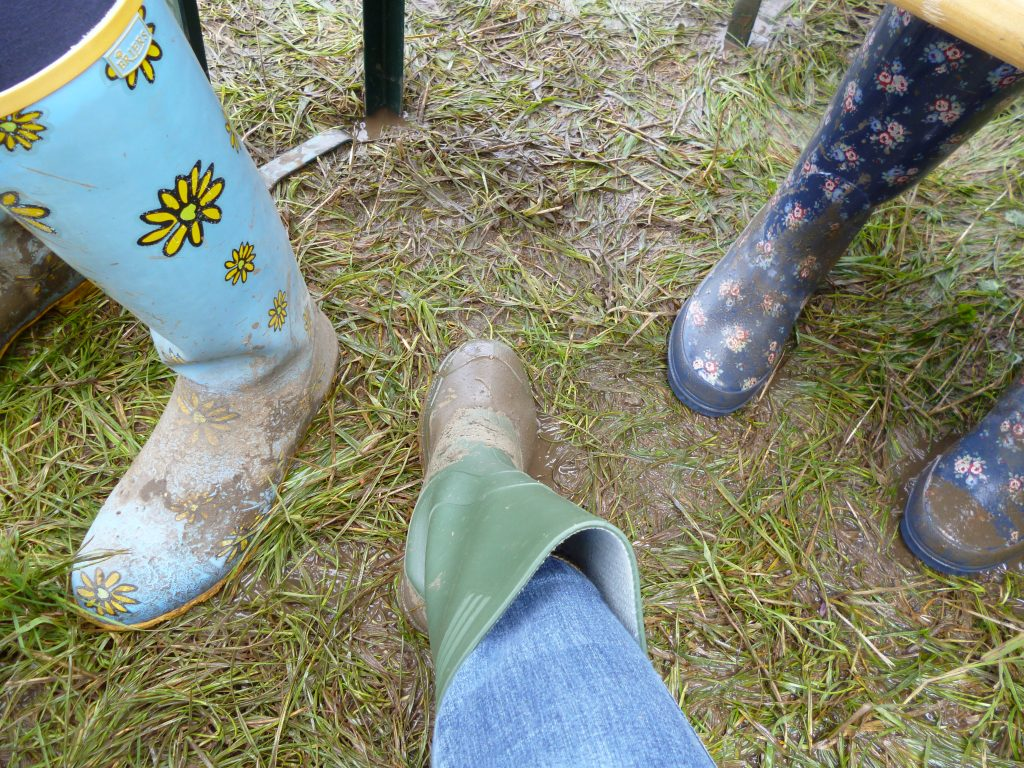 Rain boots, or Wellies, in England