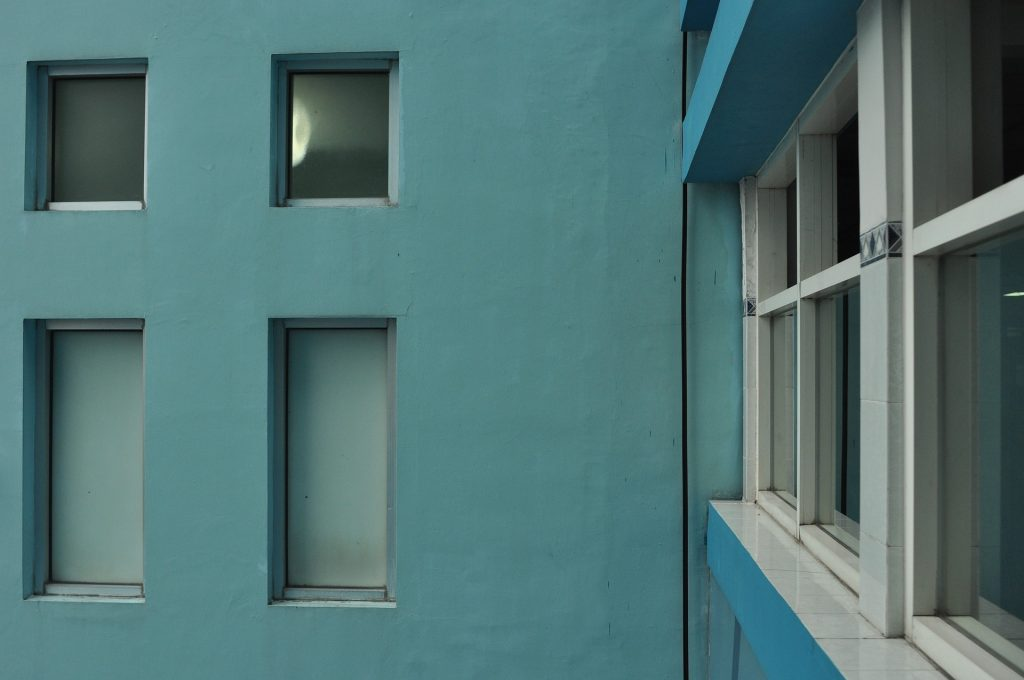 blue hospital walls in indonesia