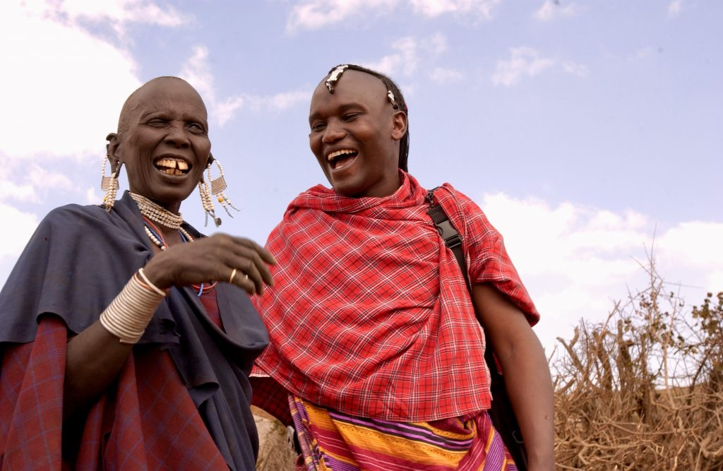 Two women of the Maasai laughing