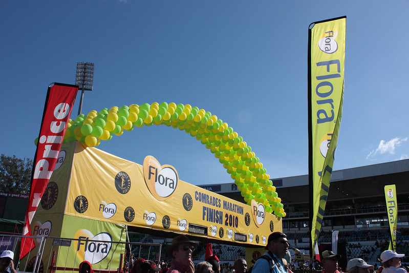 The Finish line of the Comrades Marathon in 2010