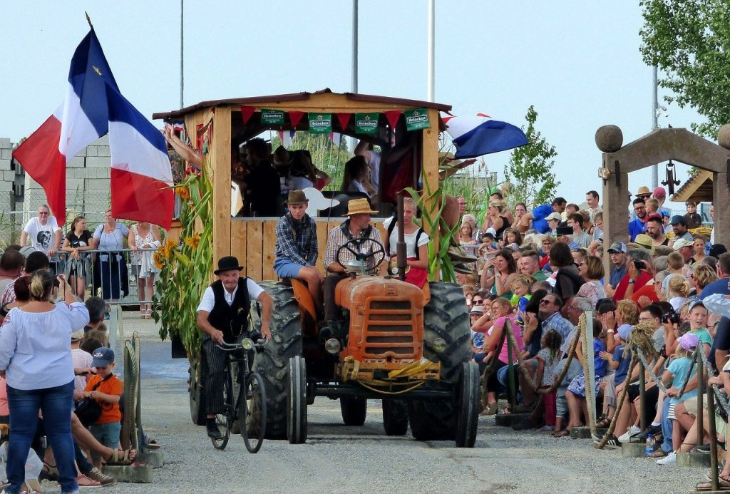 A harvest festival in France