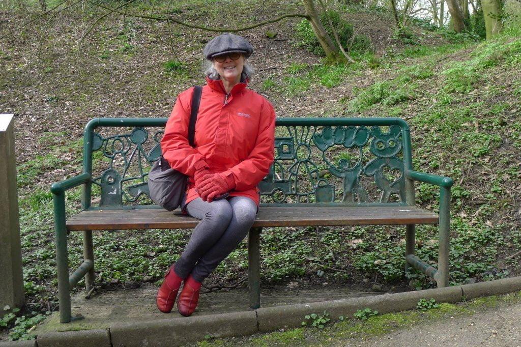 Katy Blake in a flat cap.