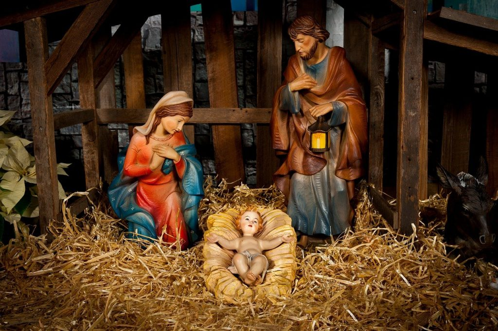 nativity scene - Jesus in the manger