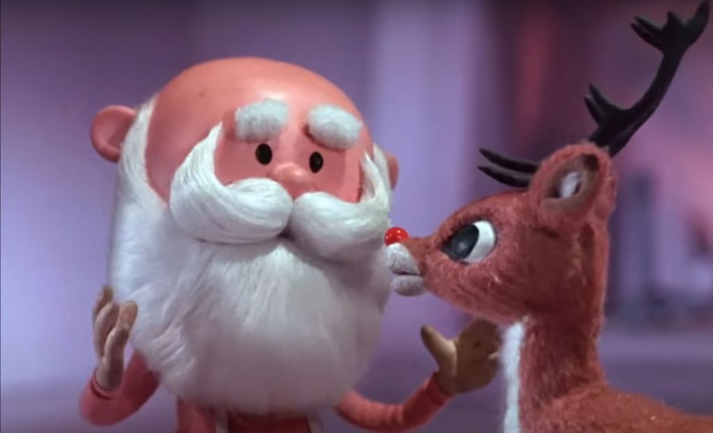 Santa talks to Rudolph