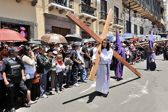 A Holy Week Parade in Quito, Ecuador