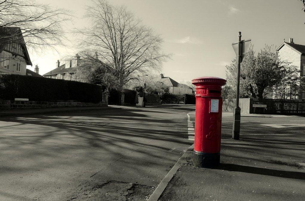 English mailbox