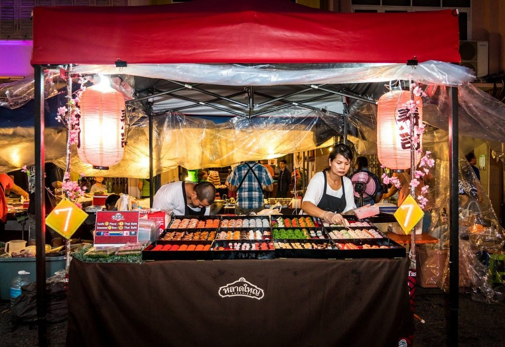 phuket street food stall