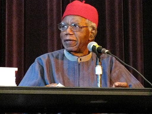 Chinua Achebespeakingin 2008