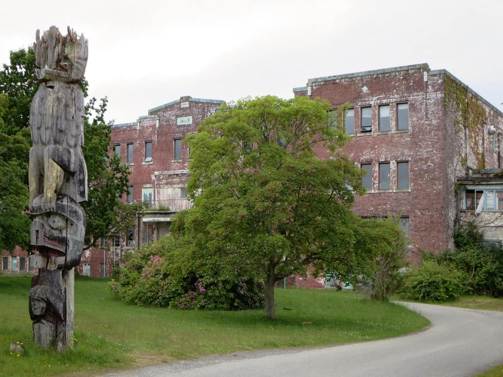 St. Michael's Indian Residential School at Alert Bay, British Columbia, Canada