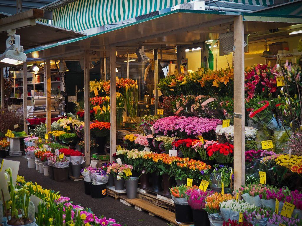 A flower market