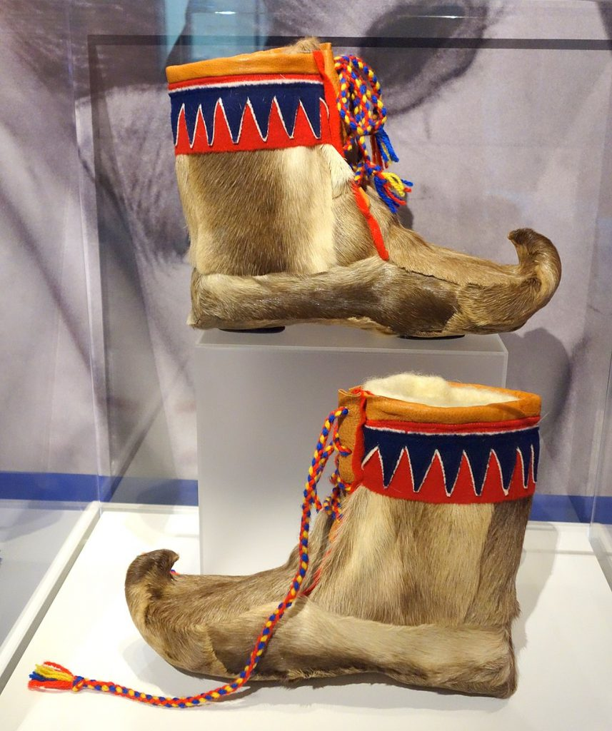 Saami boots from Norway;