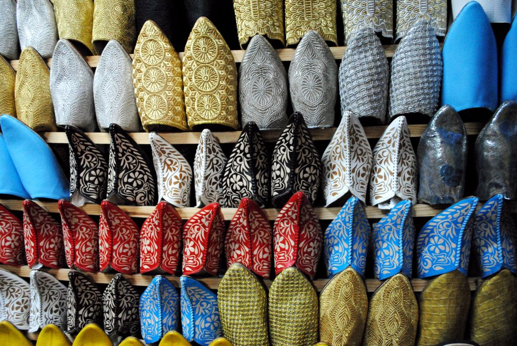 Babouche Slippers in Morocco;